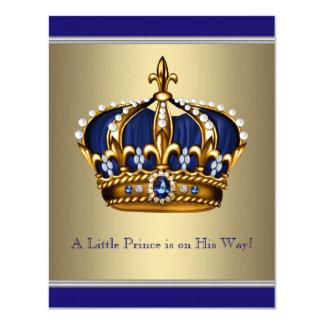 """Príncipe fiesta de bienvenida al bebé de la corona invitación 4.25"""" x 5.5"""""""