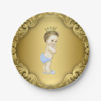 Príncipe fiesta de bienvenida al bebé de los platos de papel