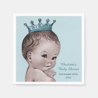 Príncipe fiesta de bienvenida al bebé del vintage  servilletas de papel