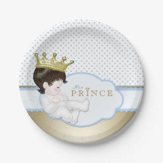Príncipe fiesta de bienvenida al bebé platos de papel