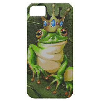 Príncipe fresco y encantador de la rana iPhone 5 carcasa