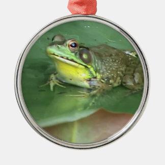 Príncipe Frog Adorno Navideño Redondo De Metal