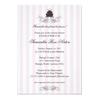 Príncipe Frog Themed Bridal Shower Invitación 12,7 X 17,8 Cm