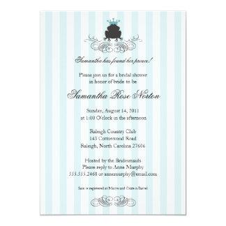 """Príncipe Frog Themed Bridal Shower Invitación 5"""" X 7"""""""