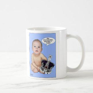 Príncipe George Cartoon Mug del bebé Taza Clásica