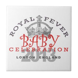 Príncipe George - celebración real Azulejos Cerámicos