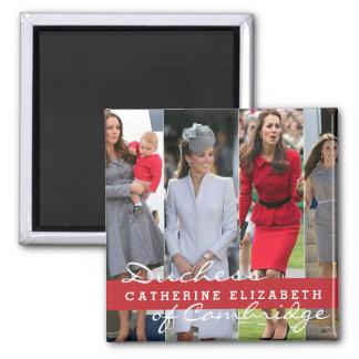 Príncipe George de Kate Middleton Imán Cuadrado