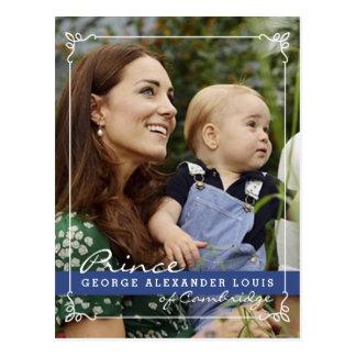 Príncipe George de Kate Middleton Postal