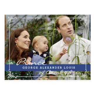 Príncipe George de Kate Middleton Tarjeta Postal