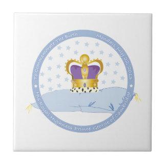 Príncipe George de la almohada y de la corona de C Teja