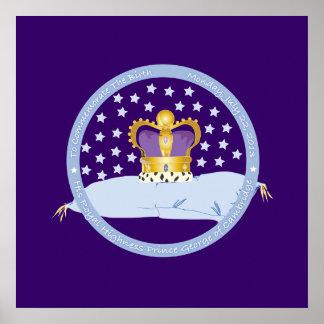 Príncipe George de la almohada y de la corona de C Impresiones
