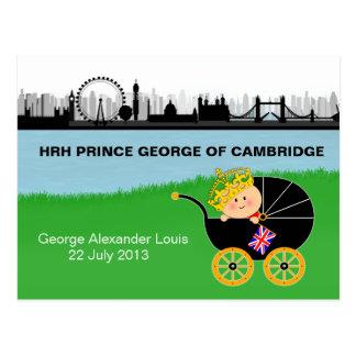 Príncipe George de la postal de Cambridge