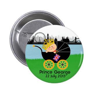 Príncipe George del botón de Cambridge Londres Pin Redondo De 2 Pulgadas