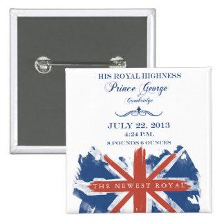 Príncipe George del botón del recuerdo de Cambridg