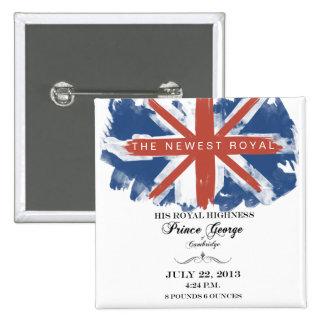 Príncipe George del botón del recuerdo de Cambridg Pin