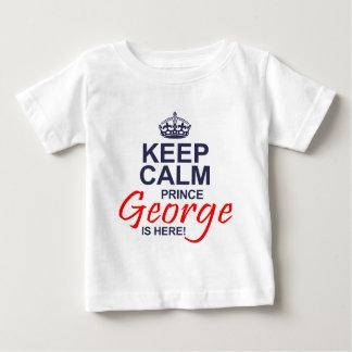 Príncipe George está aquí Playera Para Bebé