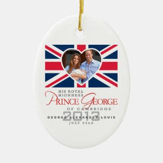 Príncipe George - Guillermo y Kate Adornos De Navidad