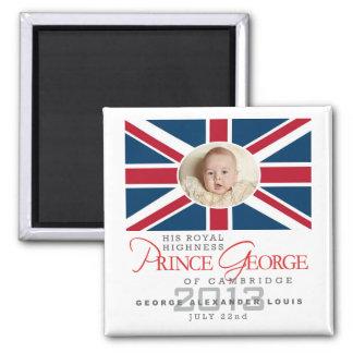 Príncipe George - Guillermo y Kate Imán Cuadrado