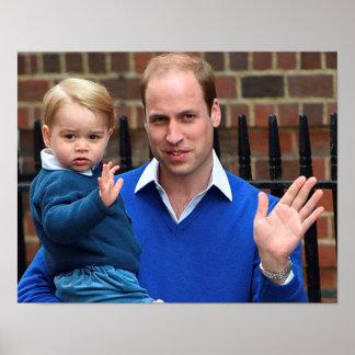 Príncipe George - Guillermo y Kate Póster