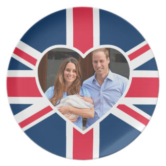 Príncipe George - Guillermo y Kate Plato De Cena