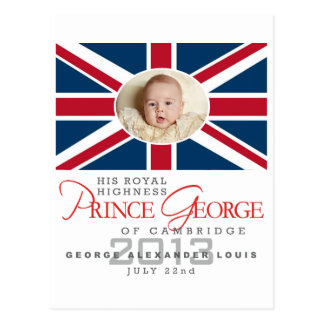 Príncipe George - Guillermo y Kate Postal