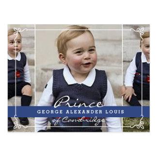 Príncipe George - Guillermo y Kate Postales