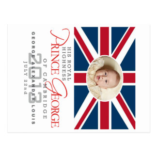 Príncipe George - Guillermo y Kate Tarjeta Postal