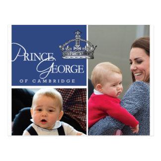 Príncipe George - Guillermo y Kate Tarjetas Postales