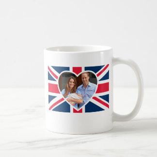 Príncipe George - Guillermo y Kate Taza Básica Blanca