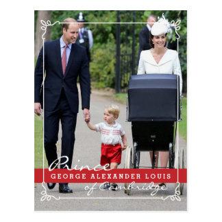 Príncipe George - princesa Charlotte - Guillermo Tarjetas Postales