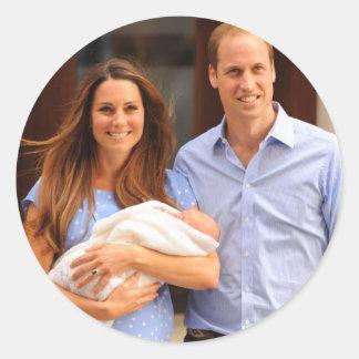 Príncipe George Royal Baby Pegatina Redonda