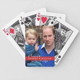 Príncipe George y príncipe Guillermo Baraja Cartas De Poker