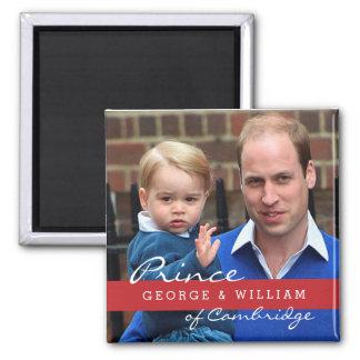 Príncipe George y príncipe Guillermo Imán Cuadrado
