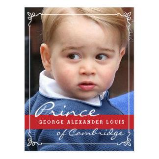 Príncipe George y príncipe Guillermo Tarjetas Postales