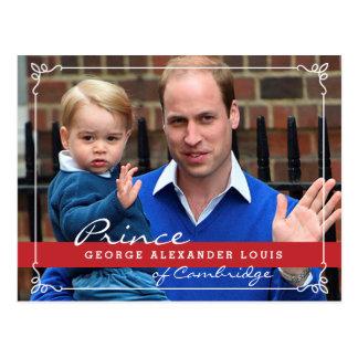Príncipe George y príncipe Guillermo Tarjeta Postal