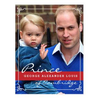 Príncipe George y príncipe Guillermo Postal