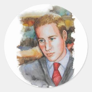 Príncipe Guillermo de PMACarlson Pegatina Redonda
