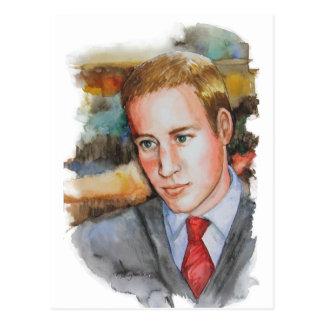 Príncipe Guillermo de PMACarlson Tarjeta Postal