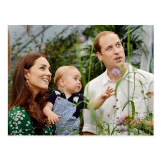 Príncipe Guillermo, duquesa Catherine y príncipe Tarjeta Postal