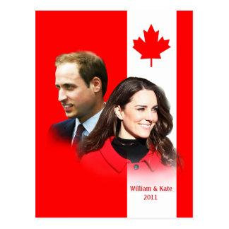 Príncipe Guillermo - postal de Kate Middleton Cana