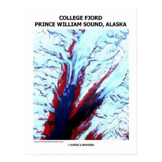 Príncipe Guillermo Sound Alaska del fiordo de la u Postal