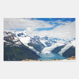 Príncipe Guillermo Sound Alaska Pegatina Rectangular
