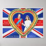 Príncipe Guillermo y boda real de Catherine Impresiones