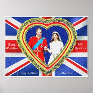 Príncipe Guillermo y boda real de Catherine Póster