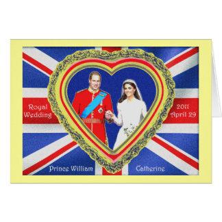Príncipe Guillermo y boda real de Catherine Tarjeta De Felicitación