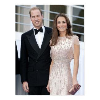 Príncipe Guillermo y duquesa de Catherine de Postal