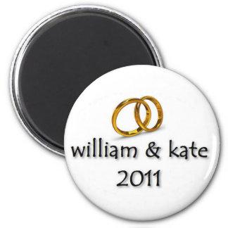 Príncipe Guillermo y el boda 2011 de Kate Imán Redondo 5 Cm
