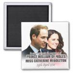 Príncipe Guillermo y imán real del boda de Kate