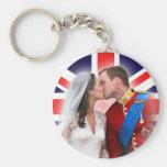 Príncipe Guillermo y llavero real del boda de Kate