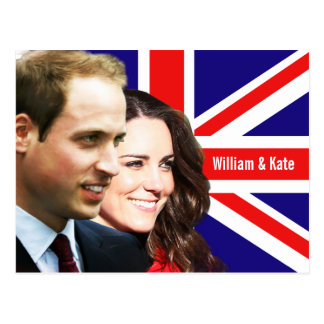 Príncipe Guillermo y postal de Kate